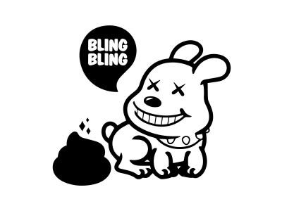 Bling Bling Dog decal