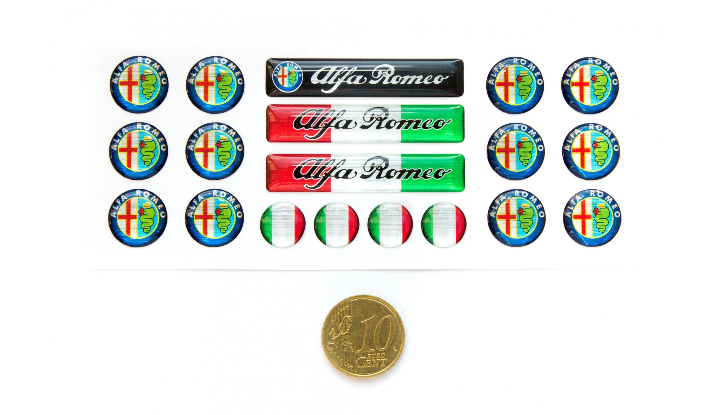 Alfa Romeo Domed Key Fob Set