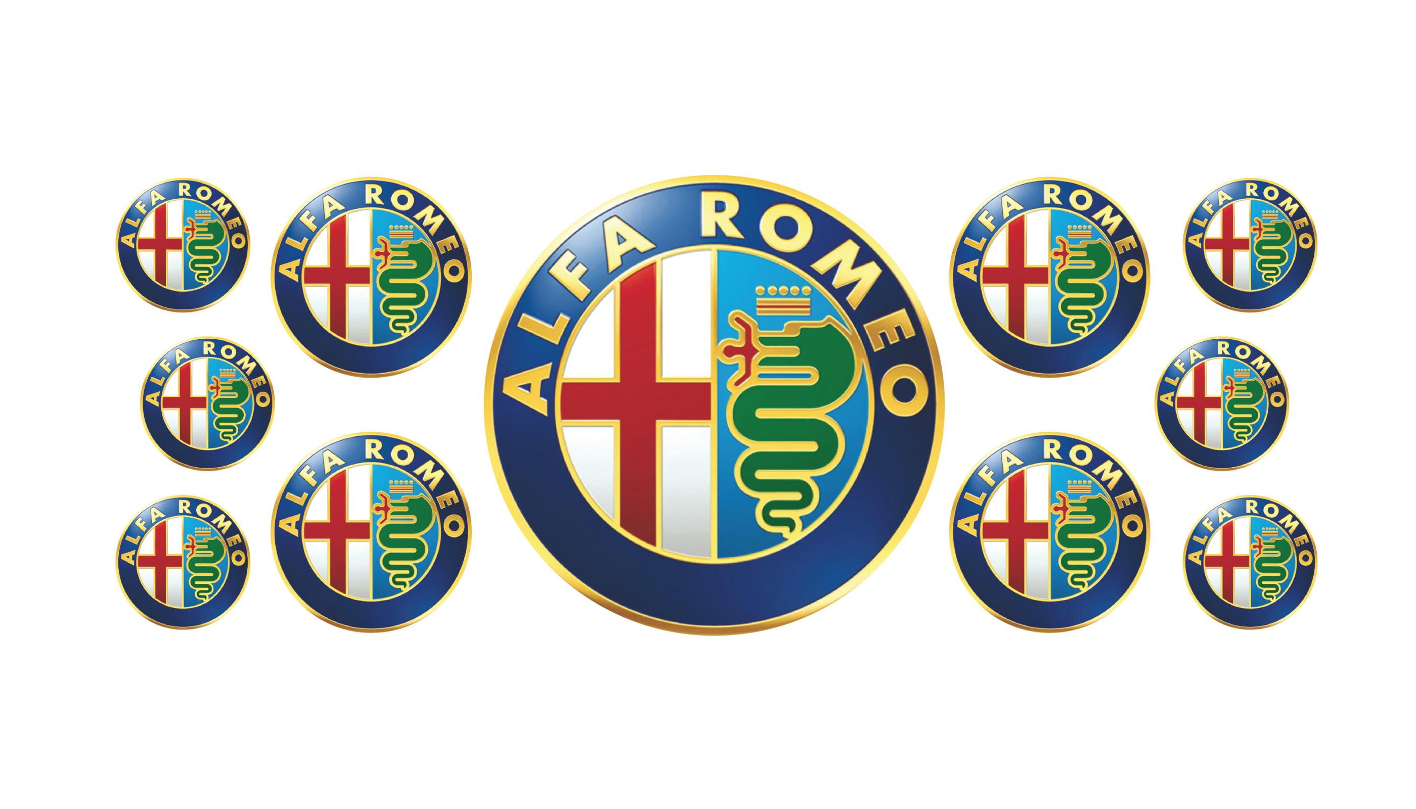Alfa Romeo domed emblems