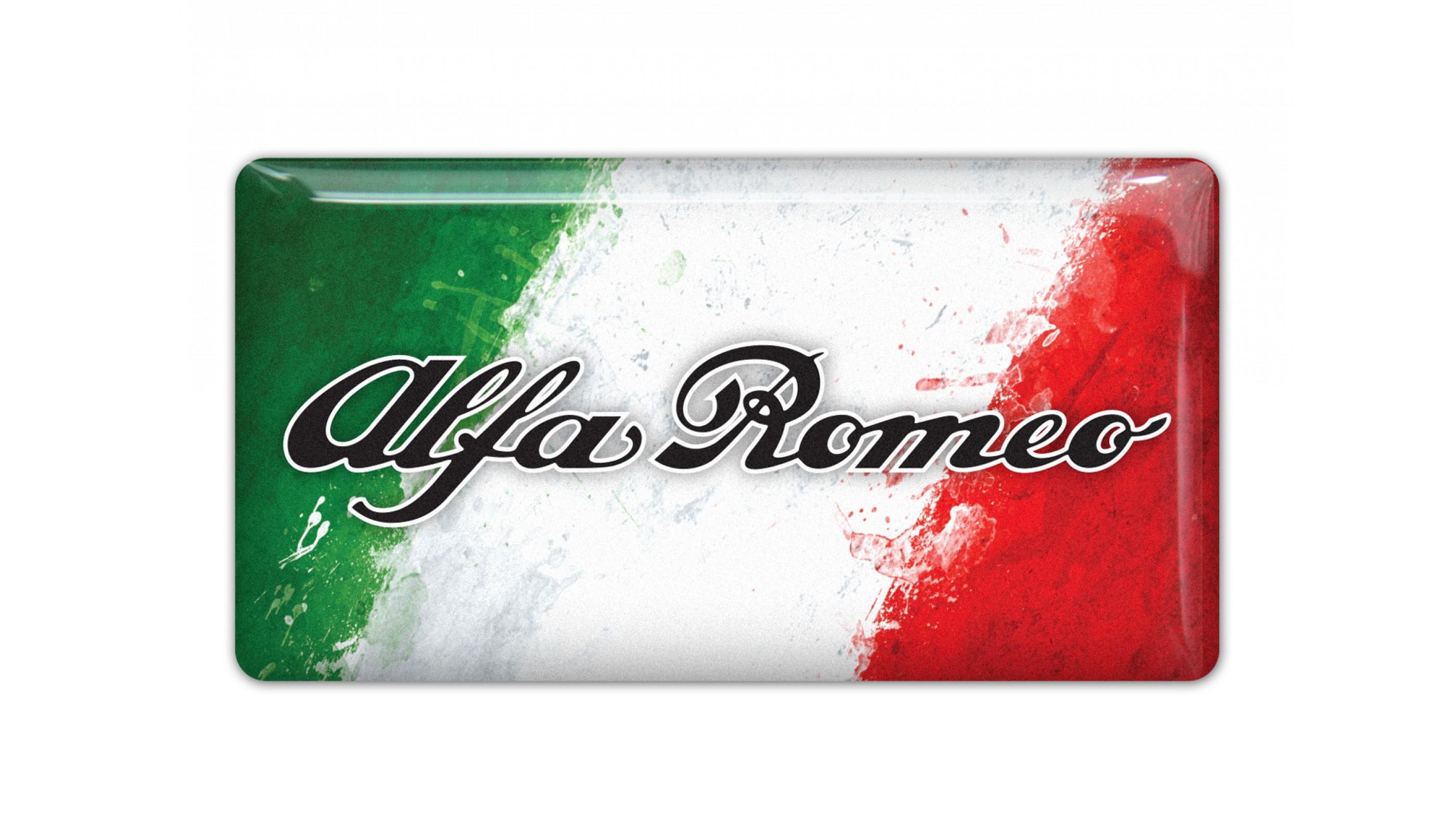 Alfa Romeo Italy Flag