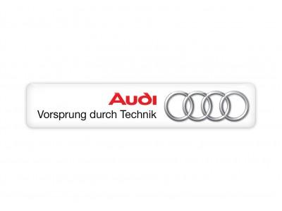 Audi wide white