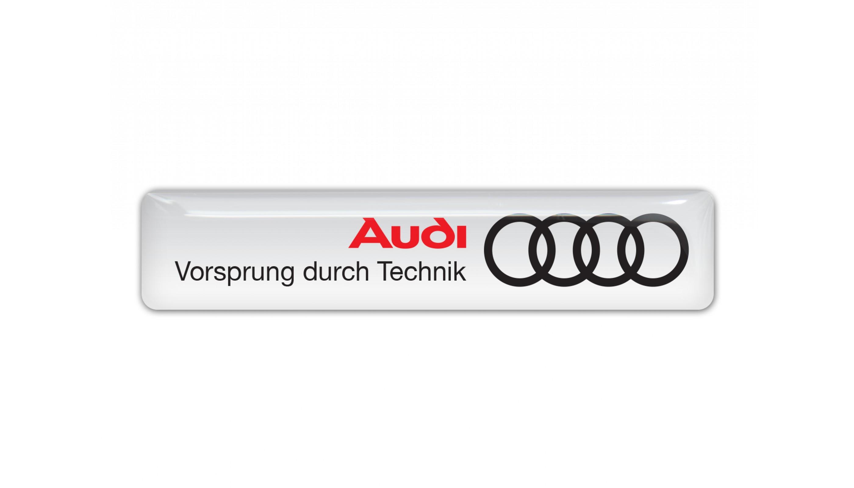 Audi wide white emblem