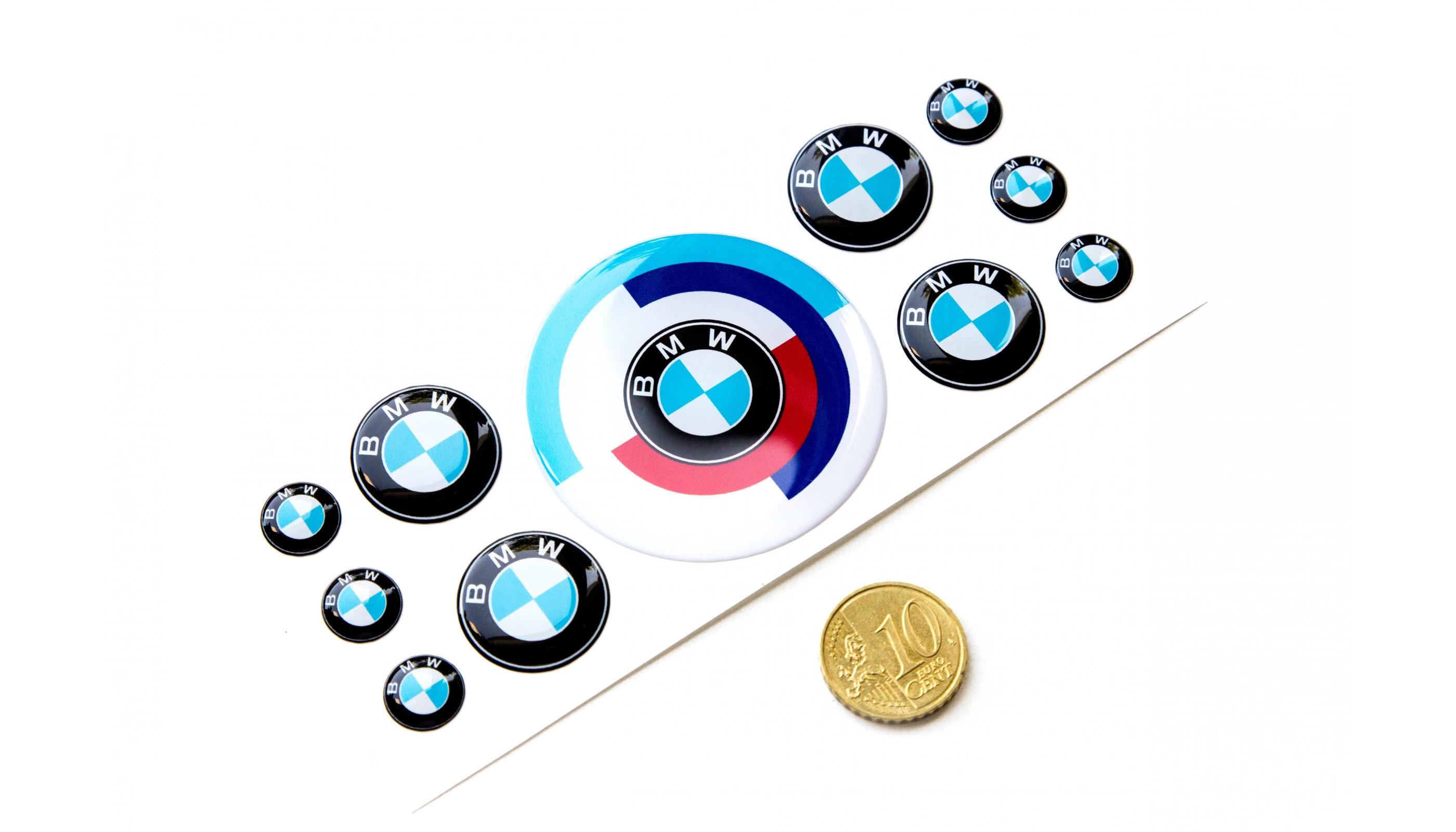 Bmw M Domed Round Emblems