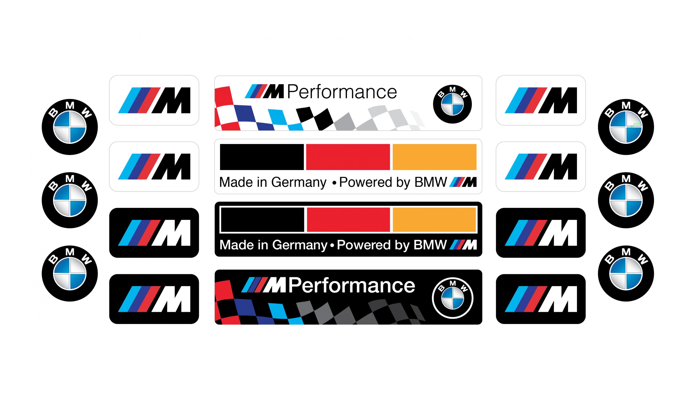 BMW emblems set