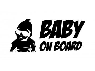 Gangsta Baby on Board decals