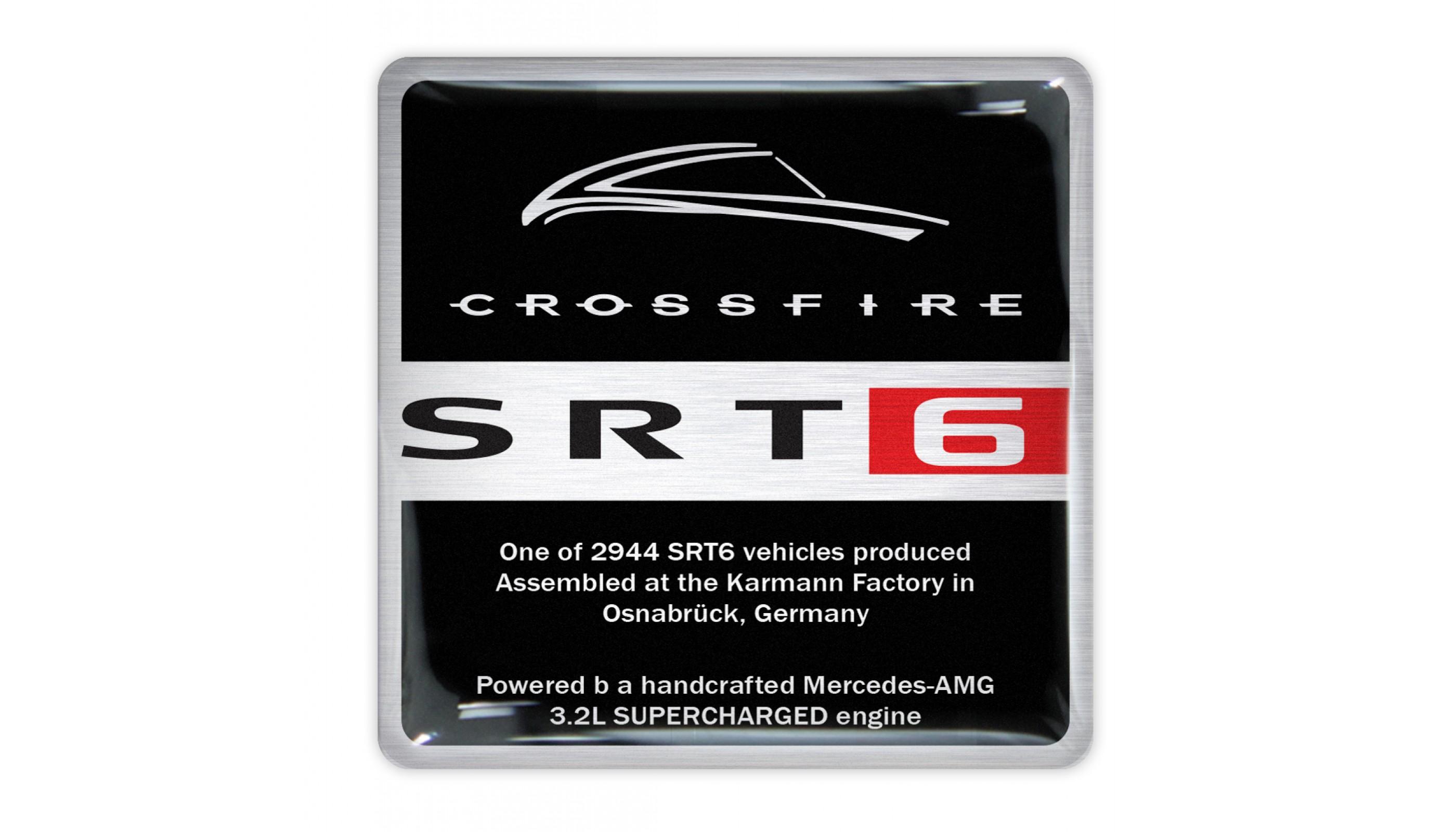 Crossfire Karmann SRT6 Engine Plate