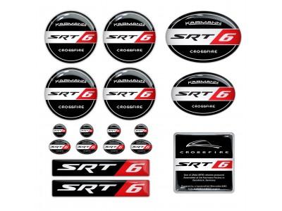 SRT6 Chrysler Crossfire Emblems set