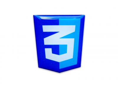 CSS3 domed emblem