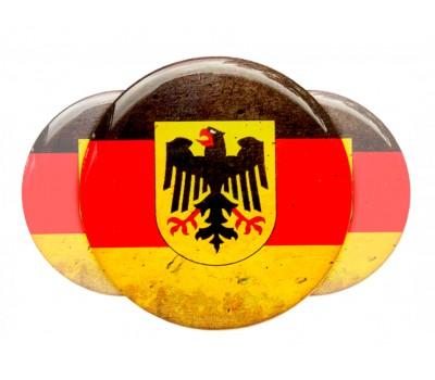 German Eagle round domed emblems