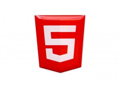 HTML5 domed emblem