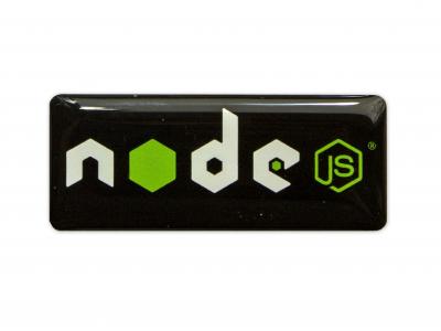 NODE JS domed emblem