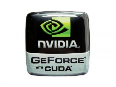 NVIDIA domed emblem