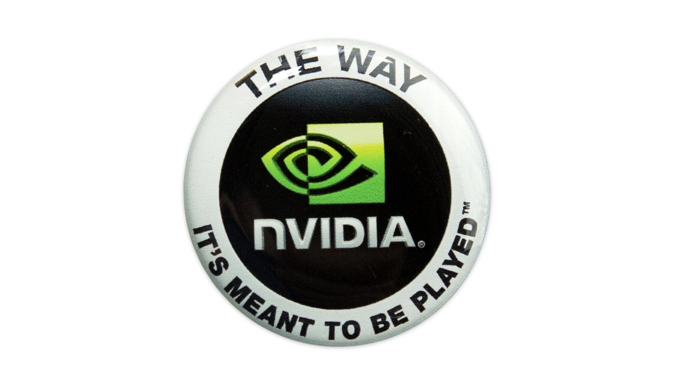 NVIDIA round domed emblem