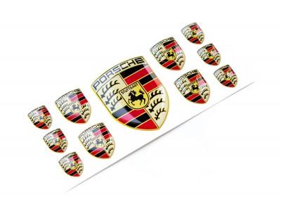 Porsche domed emblems