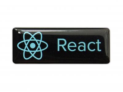 React domed emblem
