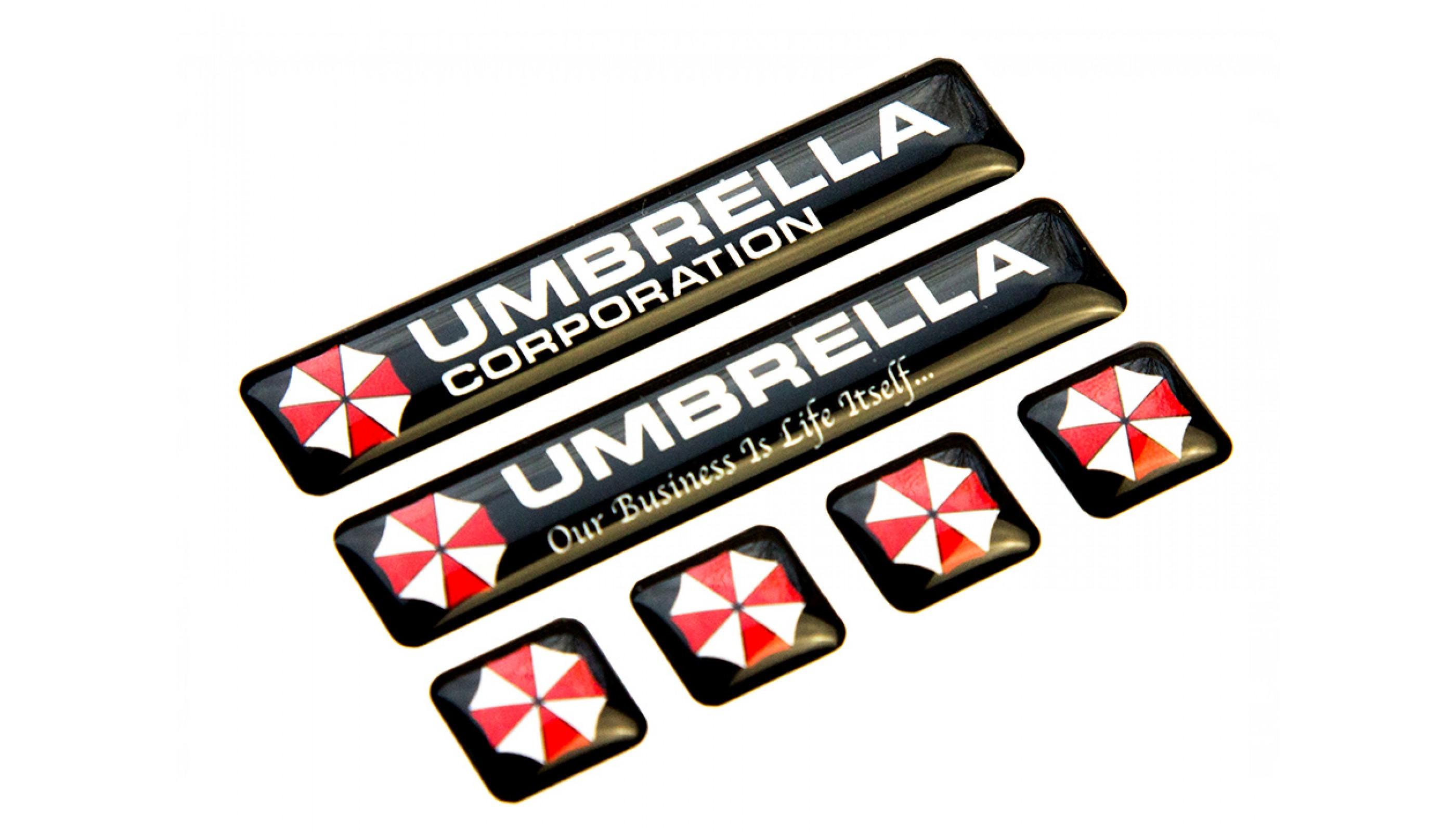 Umbrella Corporation domed emblems