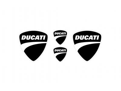Ducati black emblems