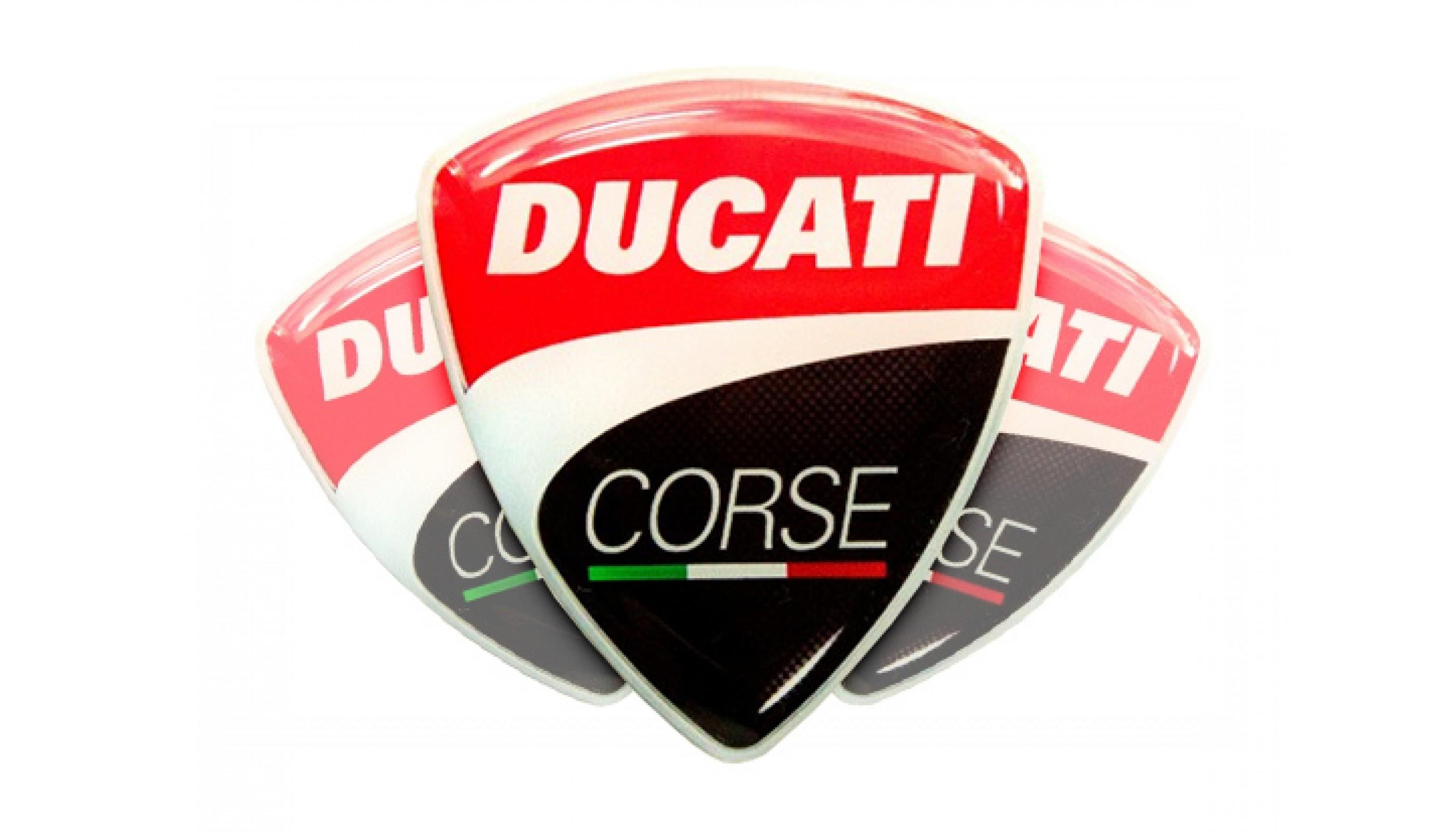 Ducati Corse domed emblems