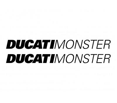 2x Ducati Monster decals