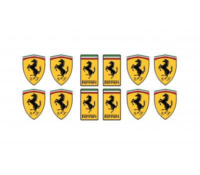 Ferrari domed small emblems