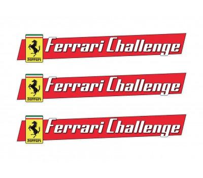 Ferrari Challenge vinyl stickers
