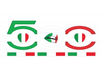 FIAT 500 domed emblems