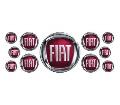 FIAT domed emblems