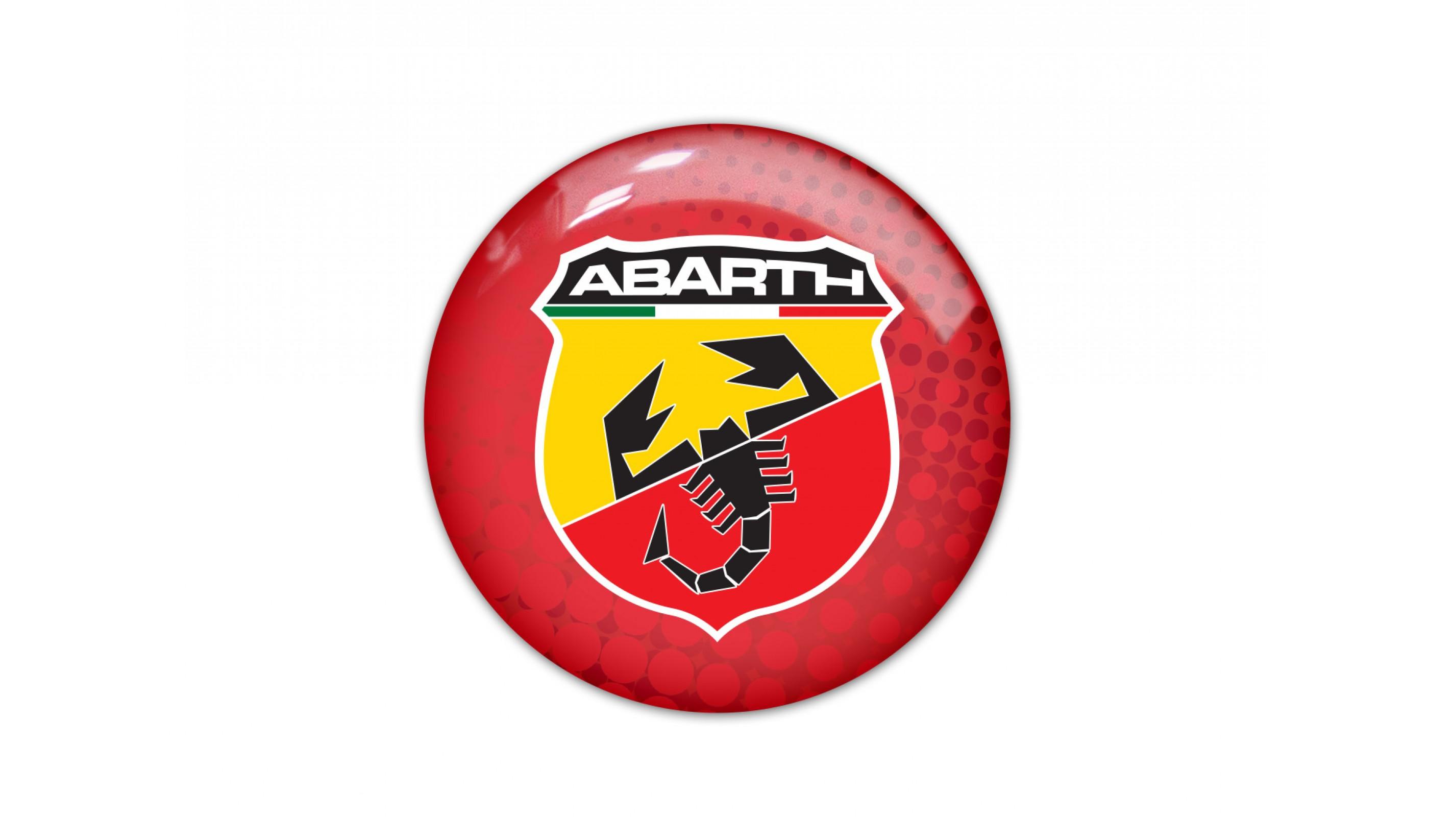 Abarth round red