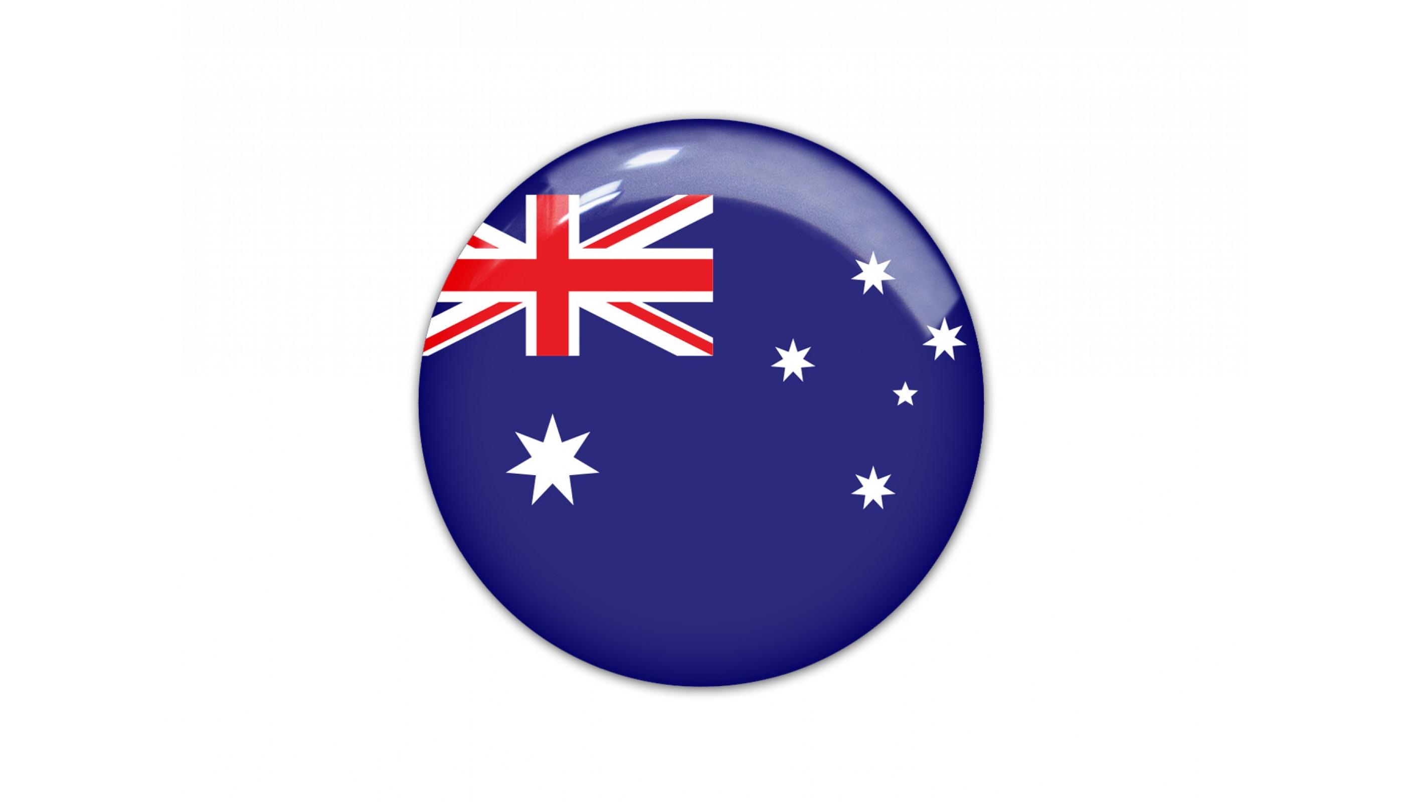 Australia round flag