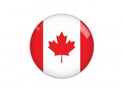Canada round flag