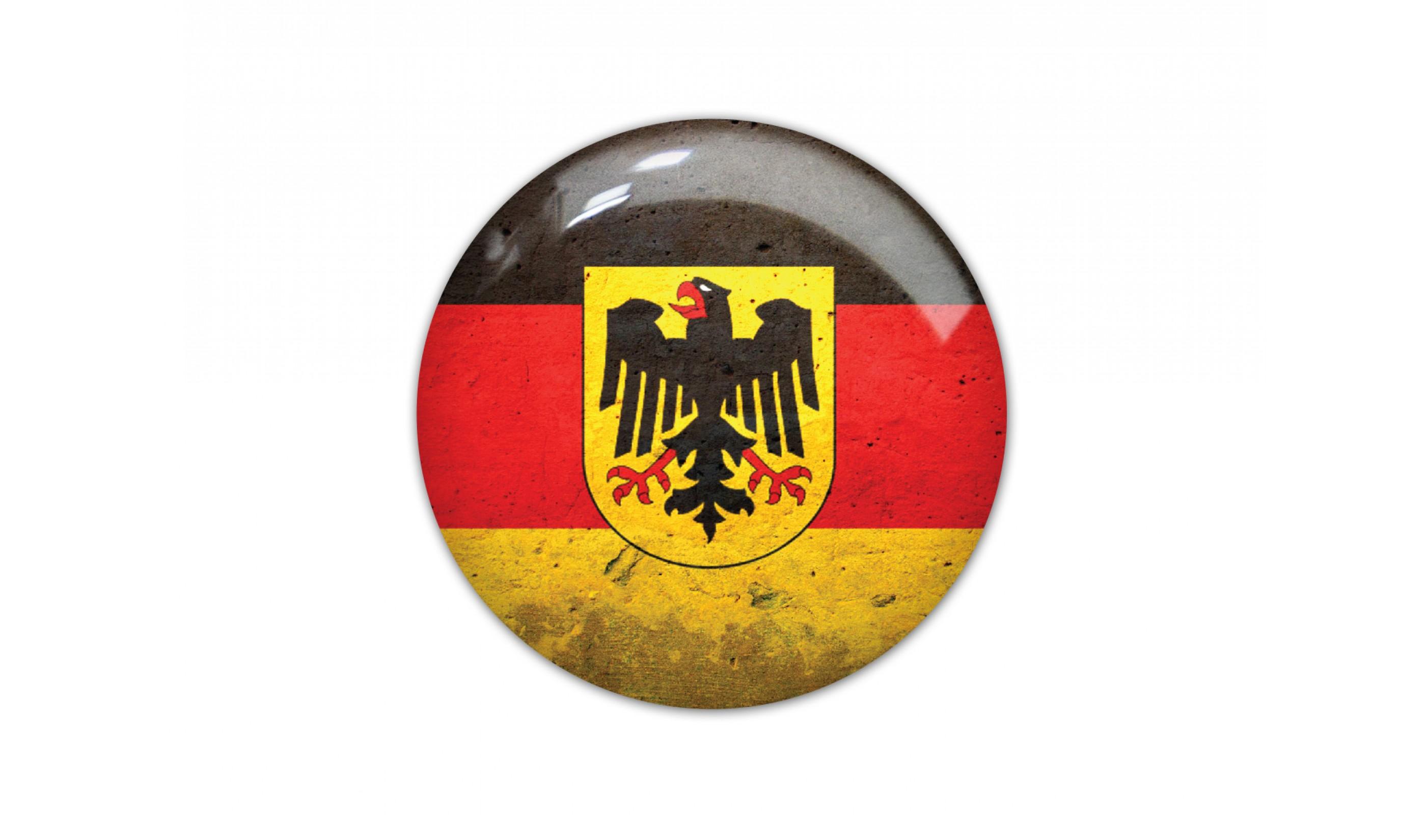 German Eagle round flag