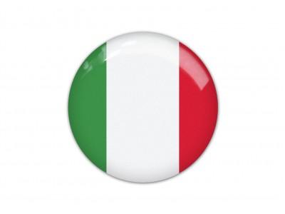 Italy round flag