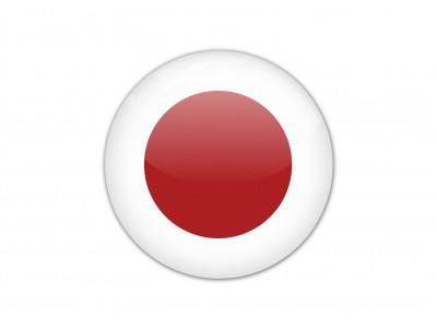 Japan round flag