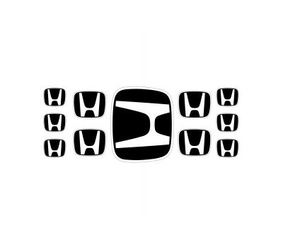 Honda black domed emblems