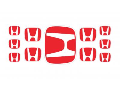 Honda red domed emblems