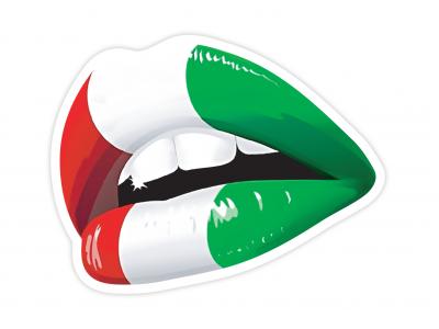 Italian Kiss vinyl sticker