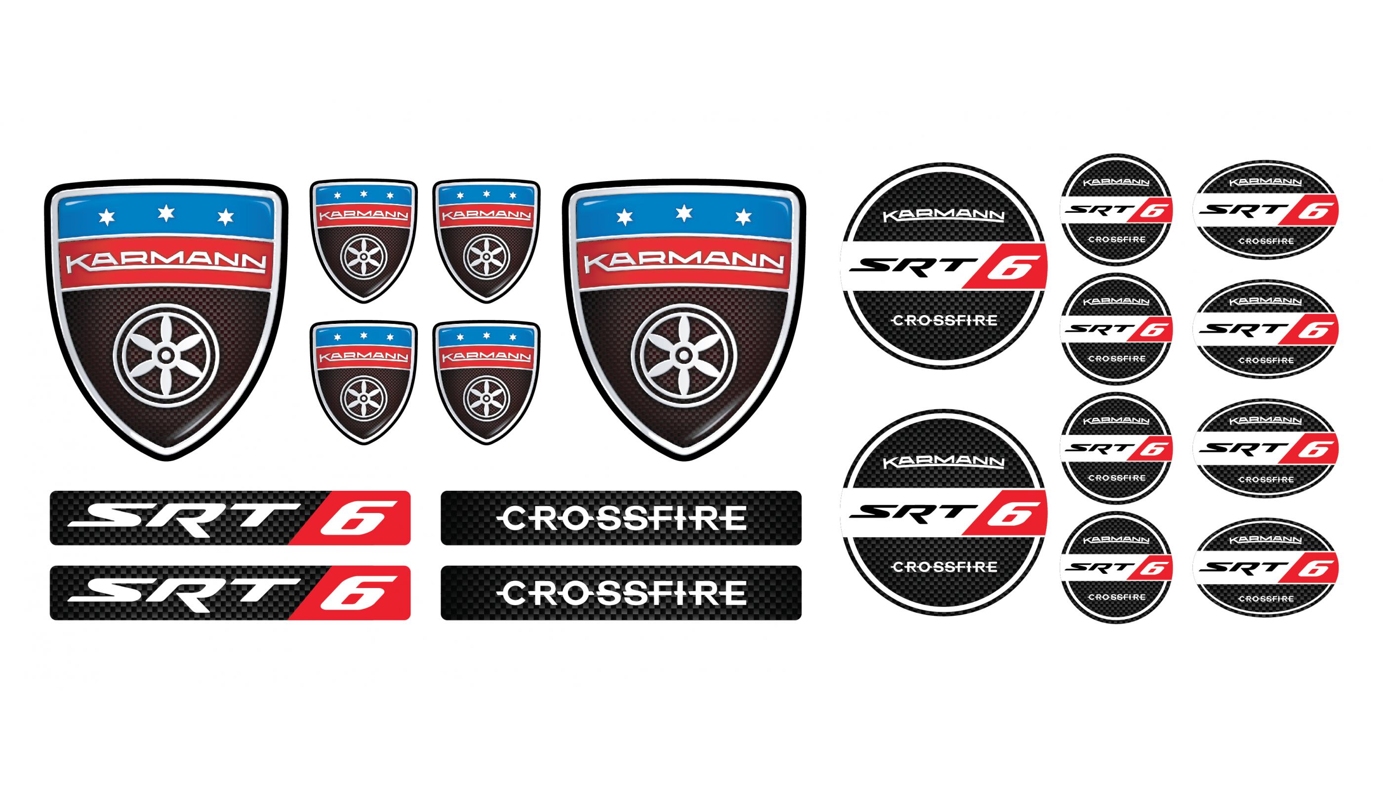 Chrysler Crossfire emblems set