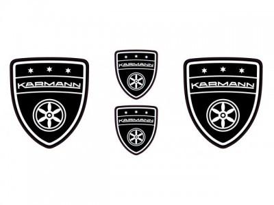 Karmann black emblems