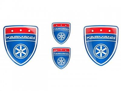 Karmann blue emblems
