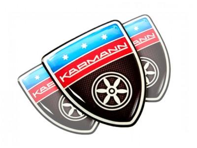 Karmann Carbon domed emblems