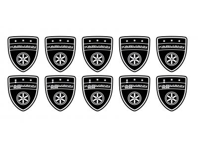 Karmann shield small black emblems