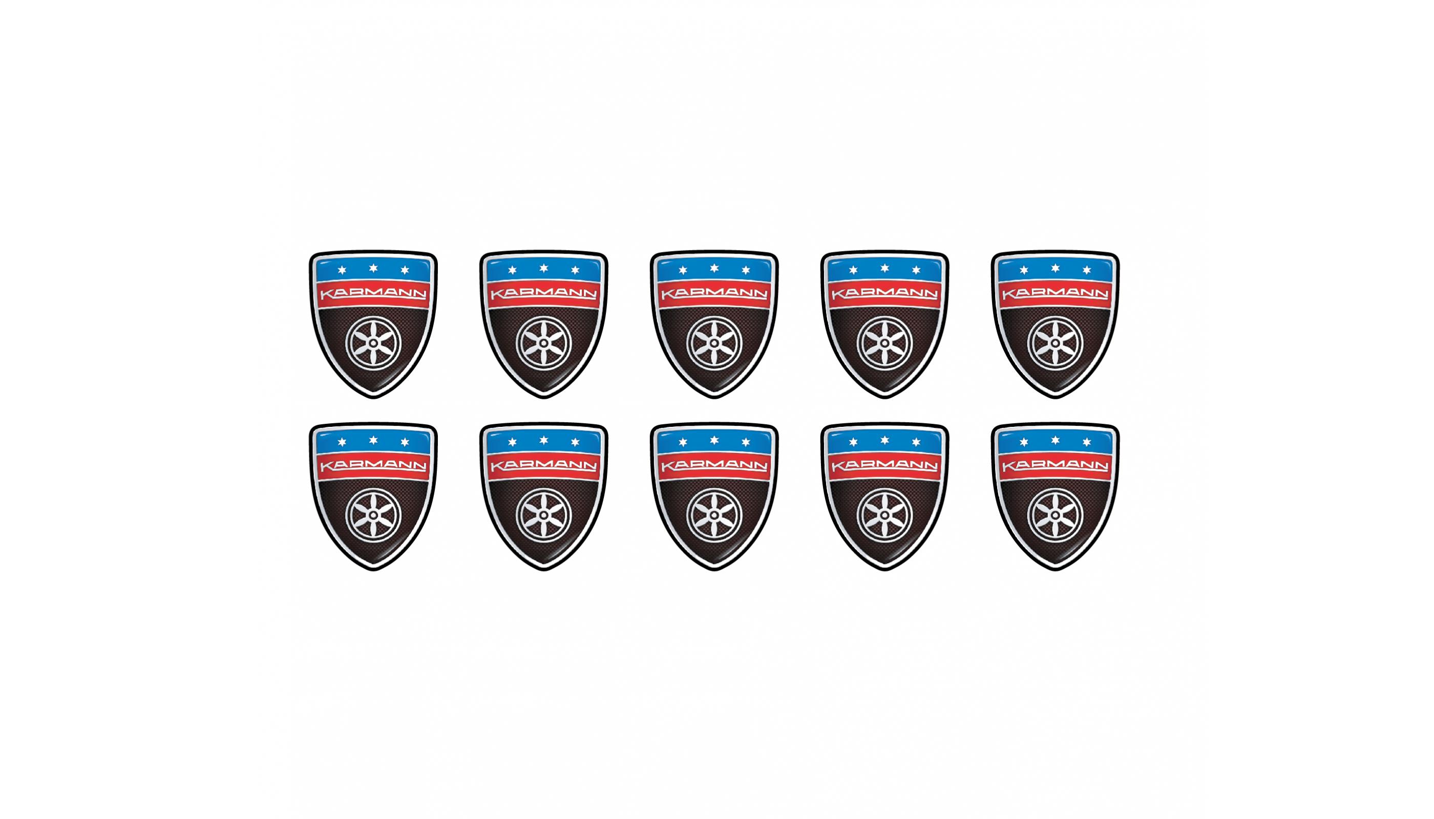 Karmann shield small carbon emblems