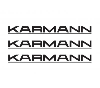 Karmann rear decals