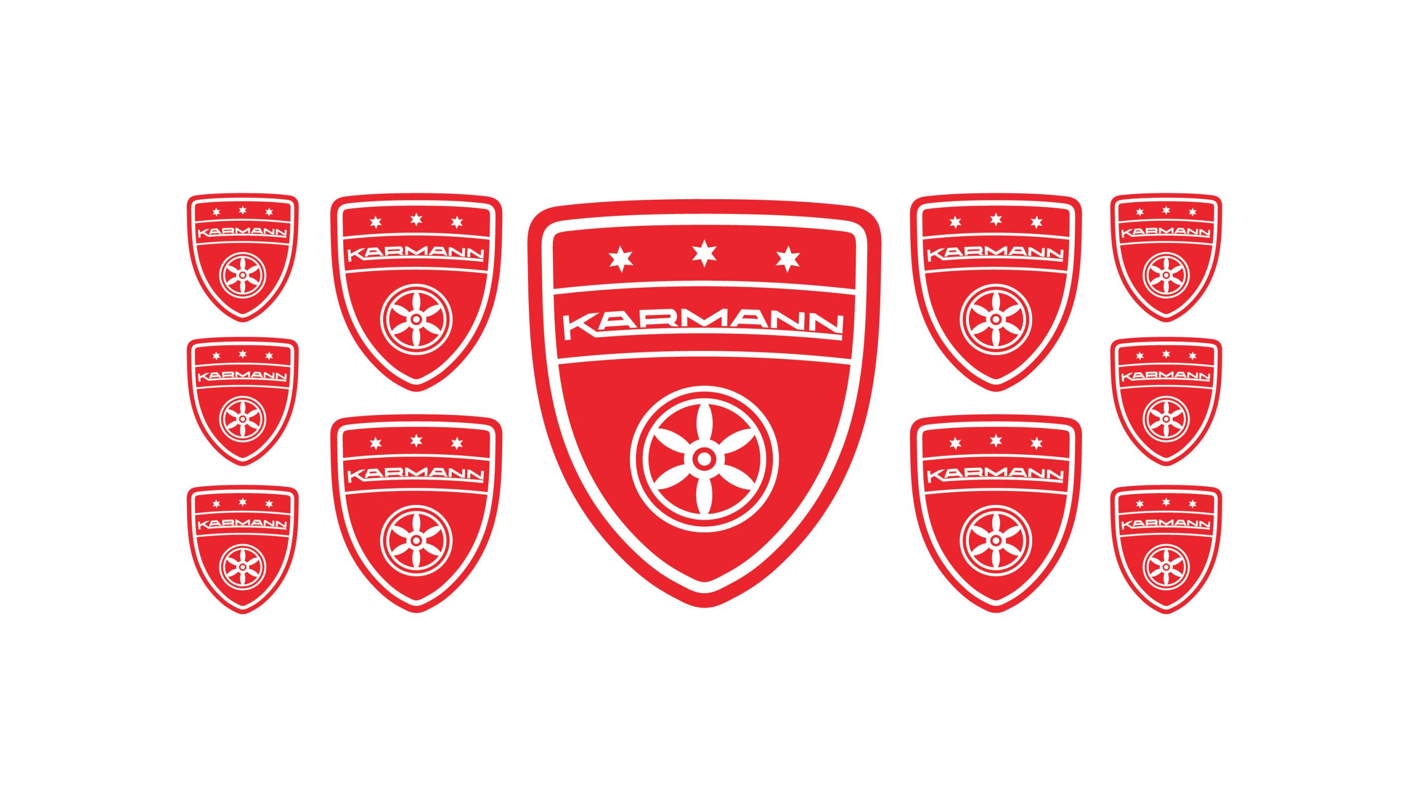 Karmann red emblems
