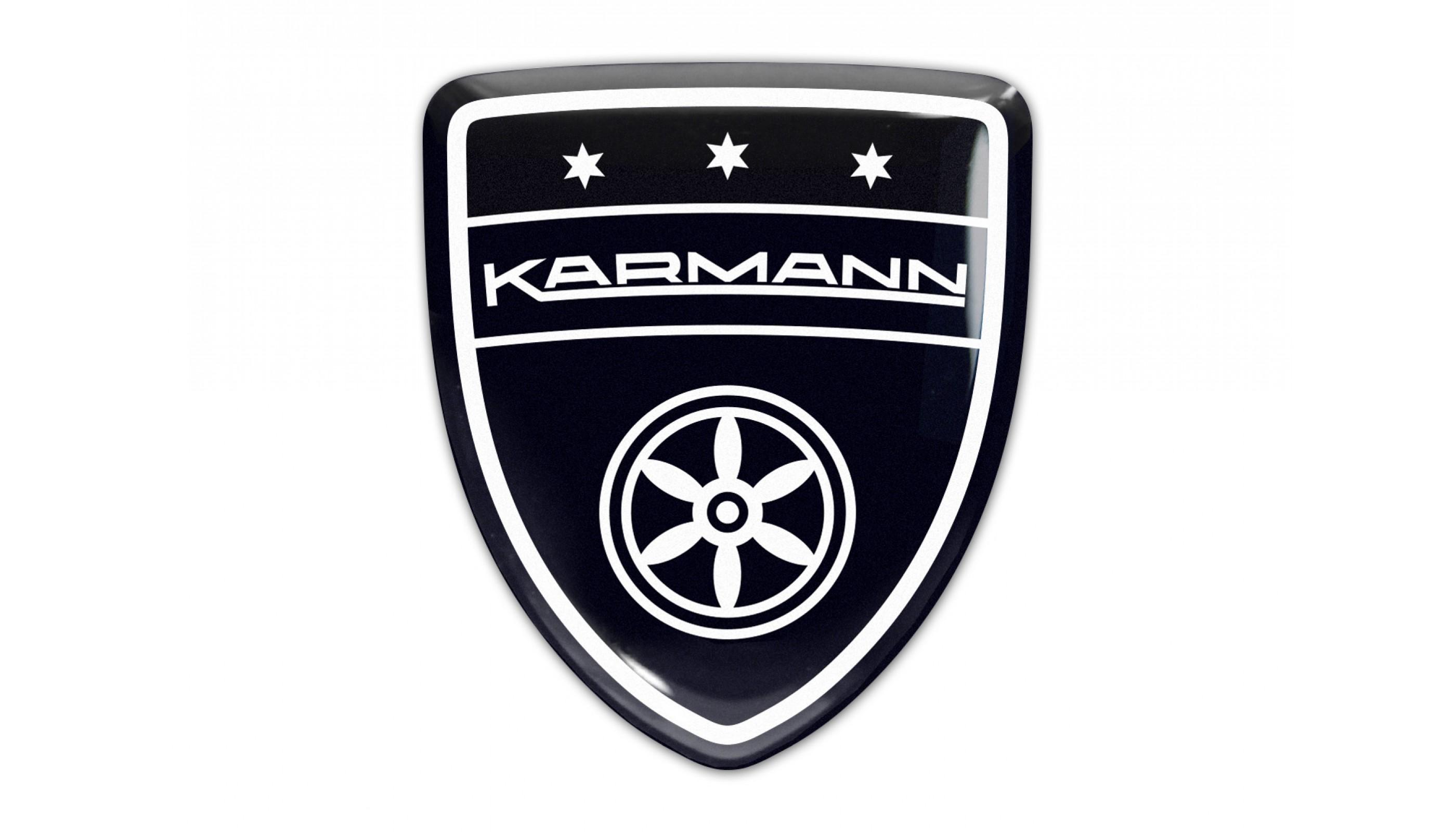 Karmann Black Domed Emblem