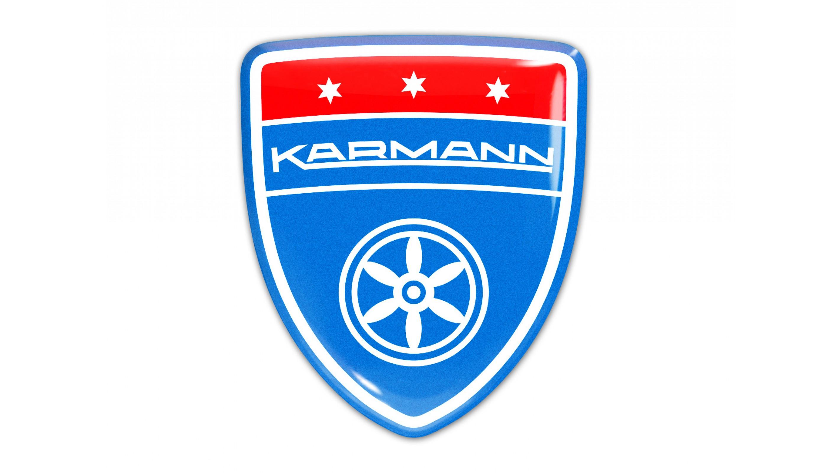 Karmann Blue Domed Emblem