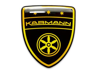 Karmann Black Gold Domed Emblem