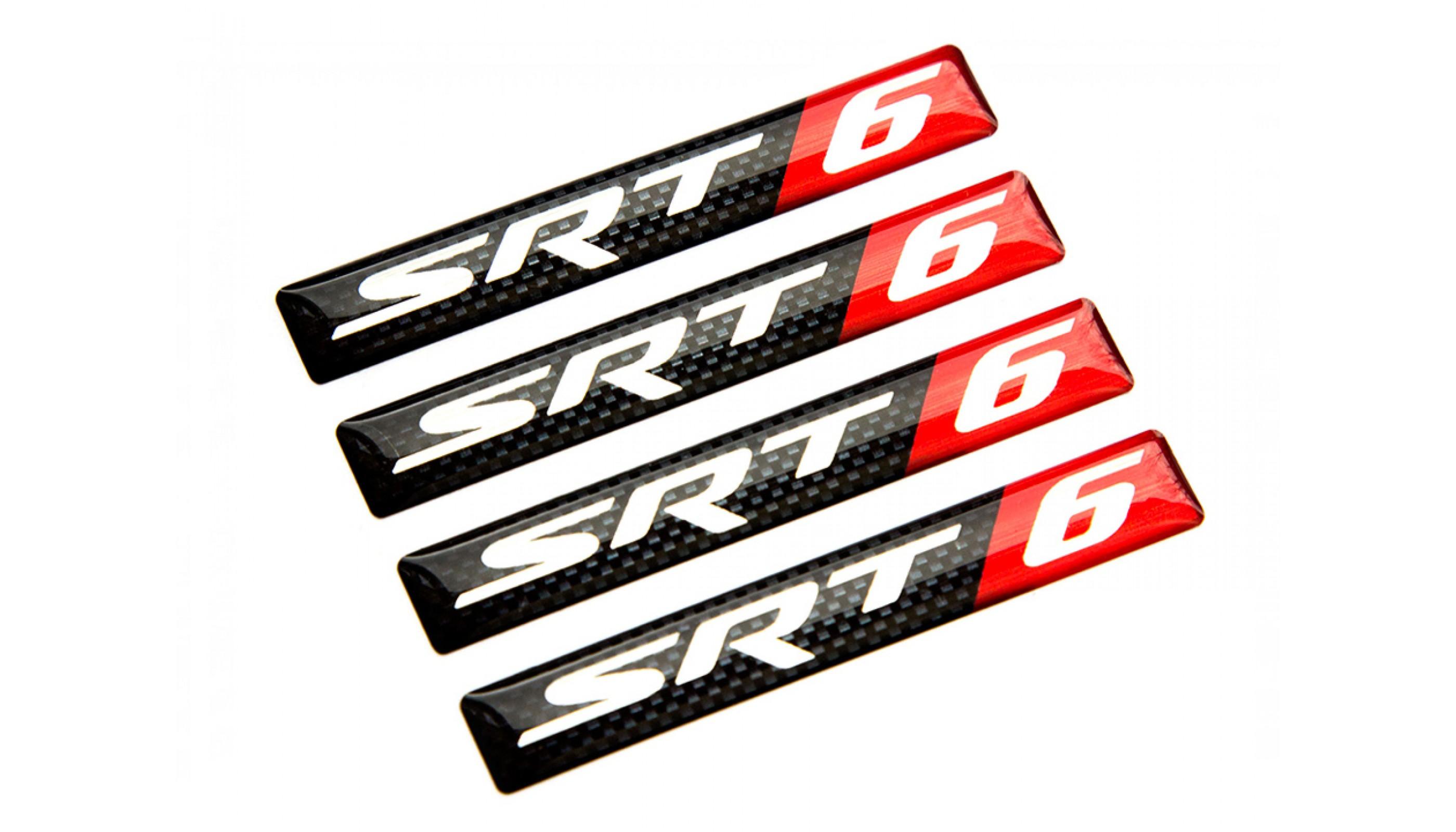 SRT 6 Carbon domed emblems