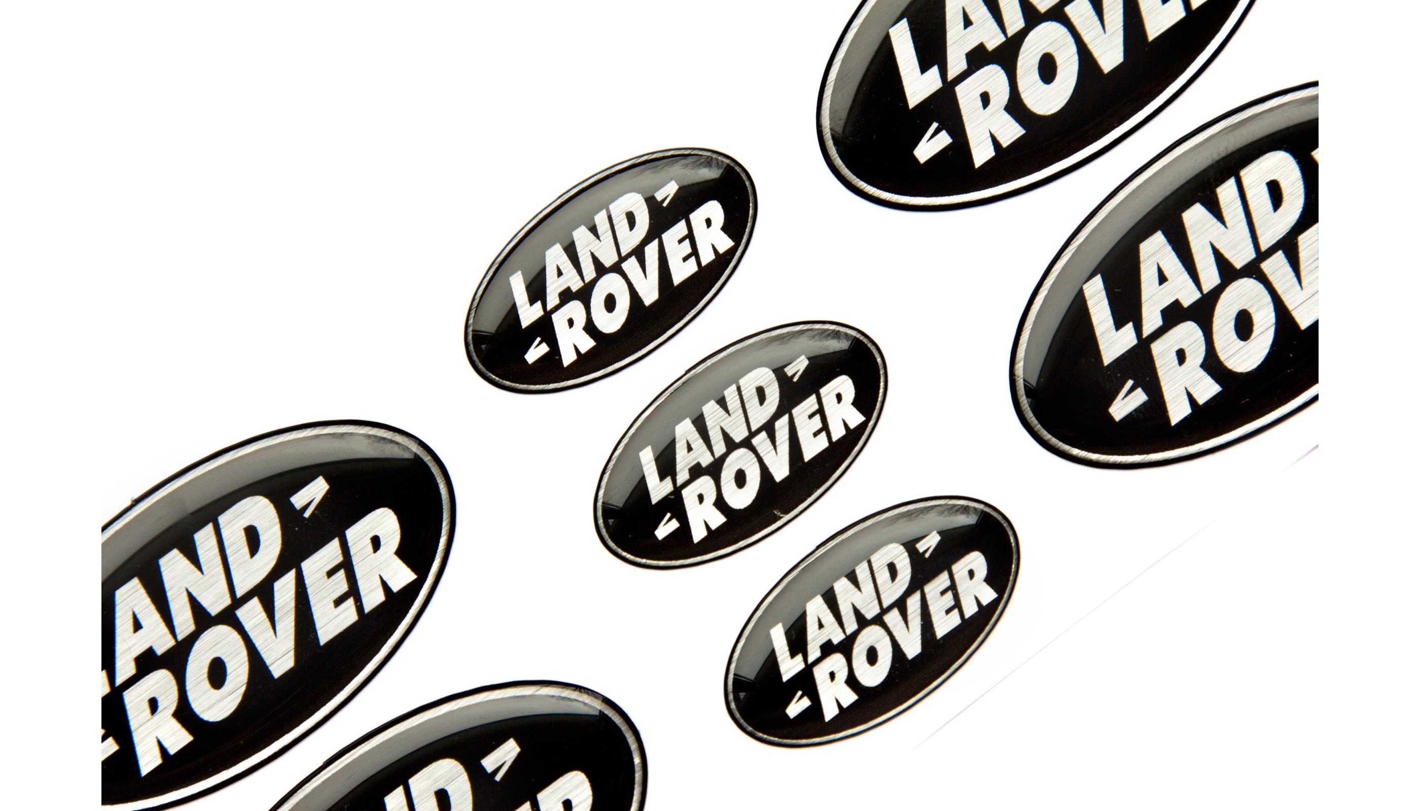 Land Rover Black Domed Emblems
