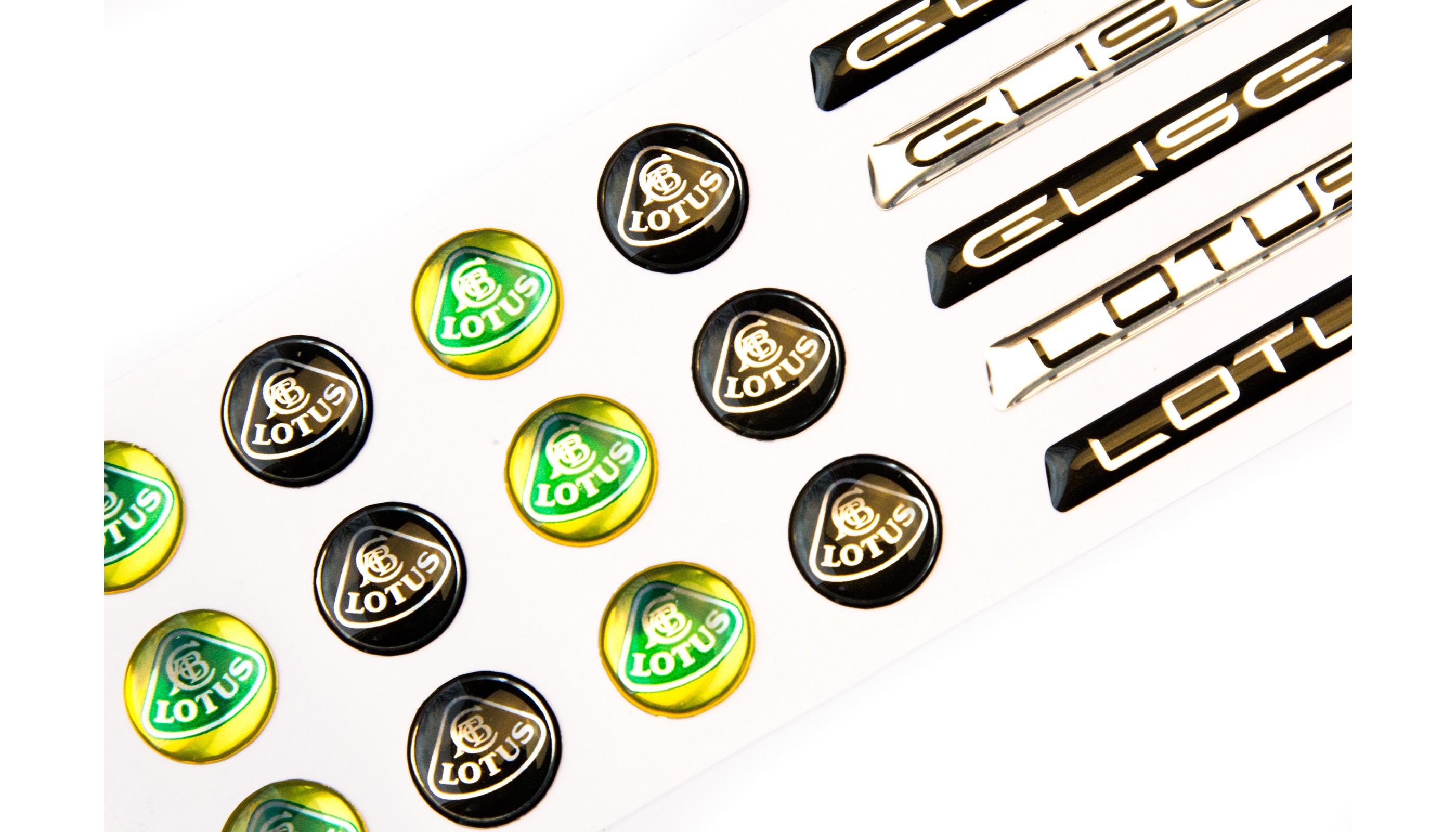 Lotus Domed Key Emblems